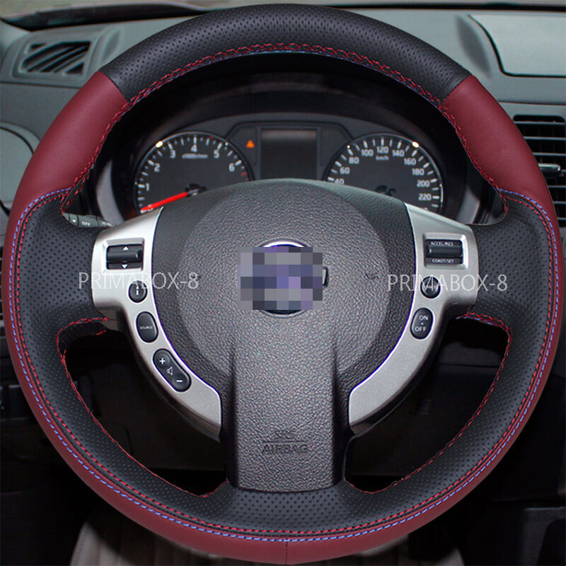stylish suede steering wheel cover wrap for nissan sentra x trail st rogue 08 13 ebay. Black Bedroom Furniture Sets. Home Design Ideas