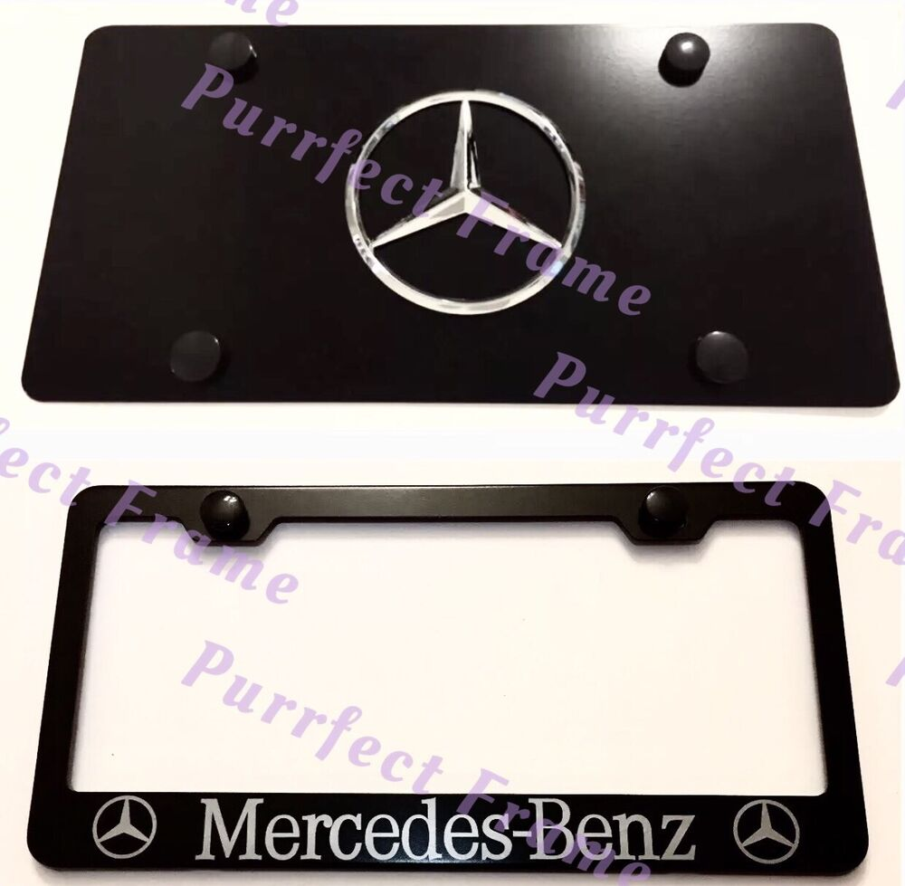 Quot Mercedes Benz Quot Stainless Black Front License Plate