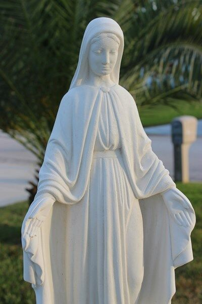 virgin mary concrete statue bless mother gift religious