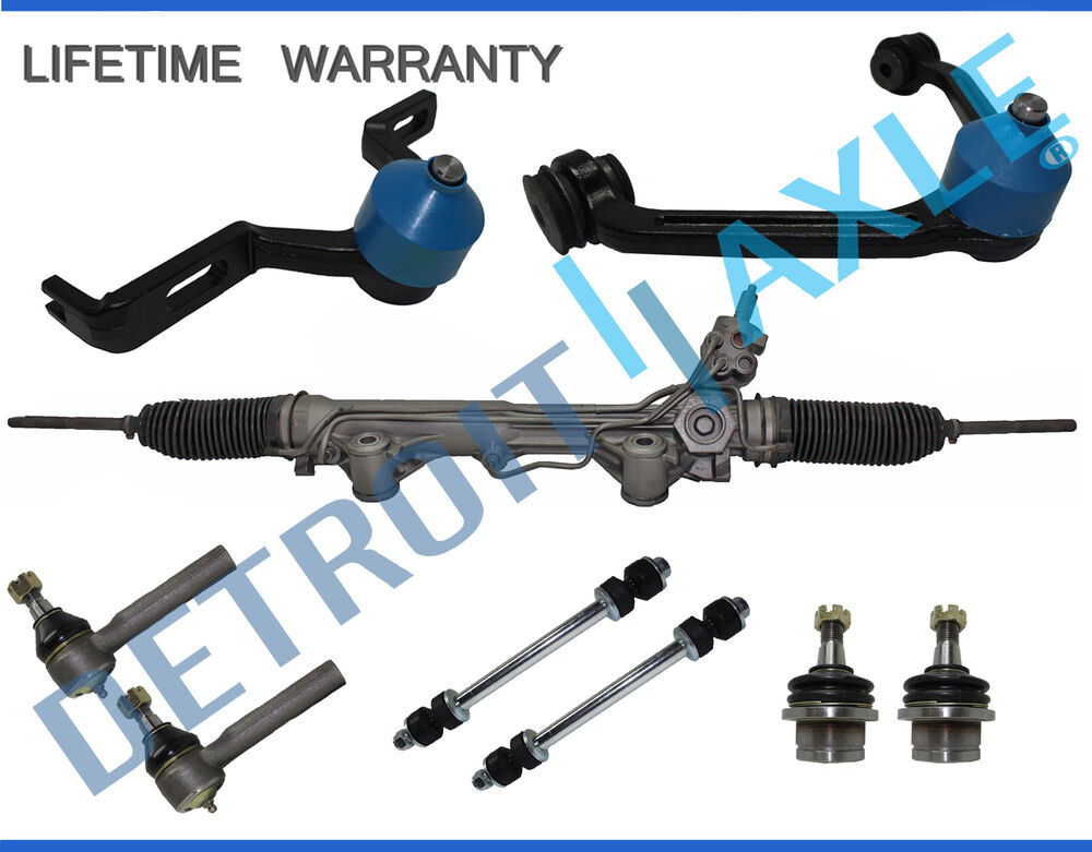 9pc Power Steering Rack And Pinion Suspension Kit For Ford