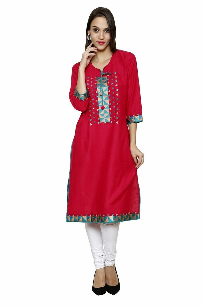 Simple  Designer Ethnic Kurta Kurti Evening Wear Women Dress Top Tunic  EBay