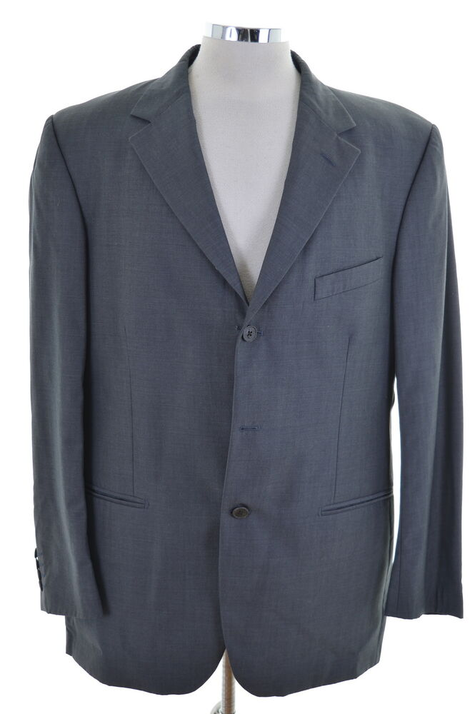 Ted Baker Mens Blazer Jacket Size 44 Xl Grey Wool Three