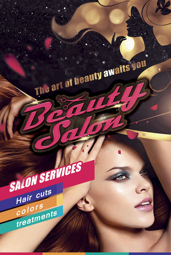 Details About Beauty Salons Hair Salon Barber Haircut Color Paper Poster B 01