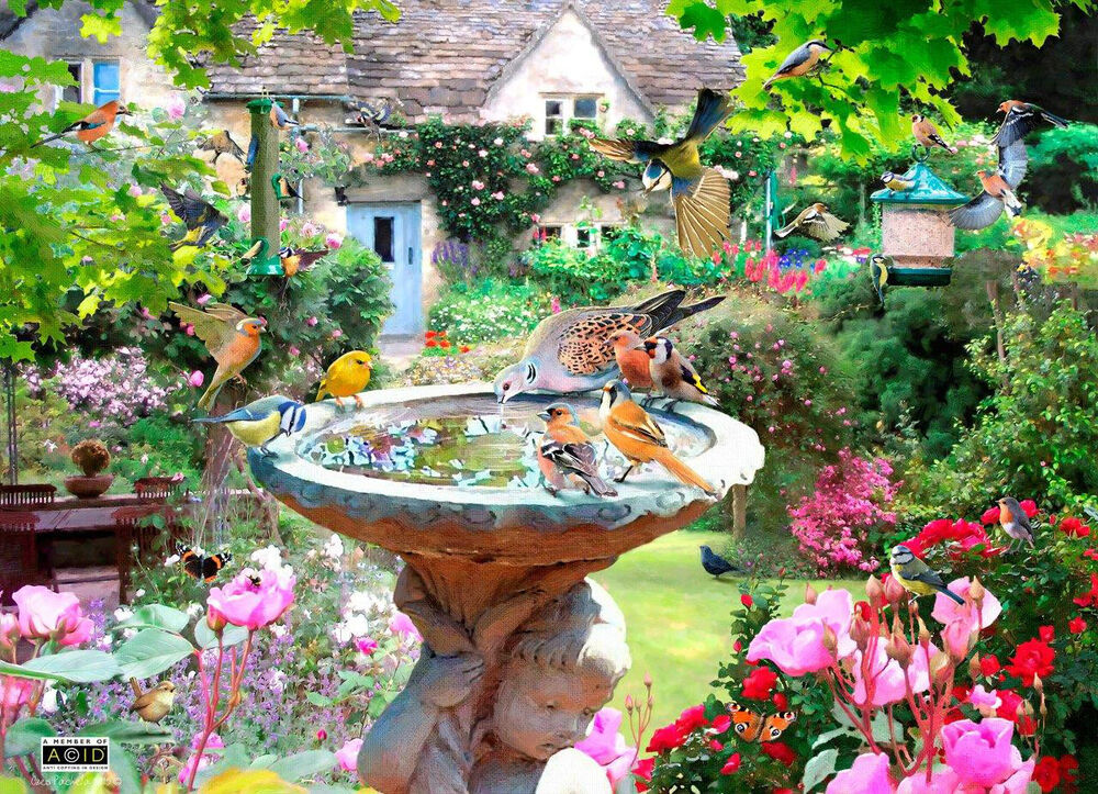 The house of puzzles 500 piece jigsaw puzzle summer House and garden online