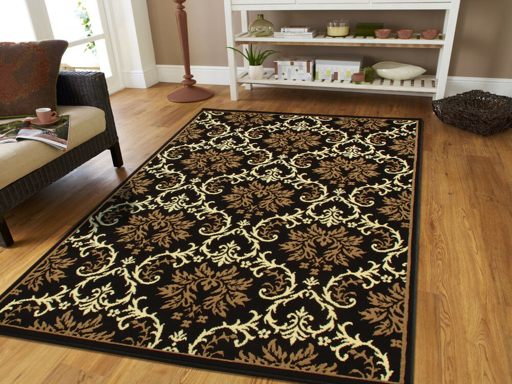 Large Area Rugs 8x11 Contemporary Rugs 8x10 Black 5x7 Rugs