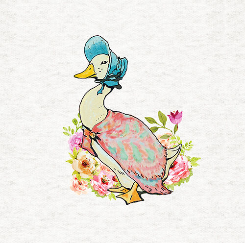 Jemima Puddle Duck Fabric Craft Panel Quilting Panel