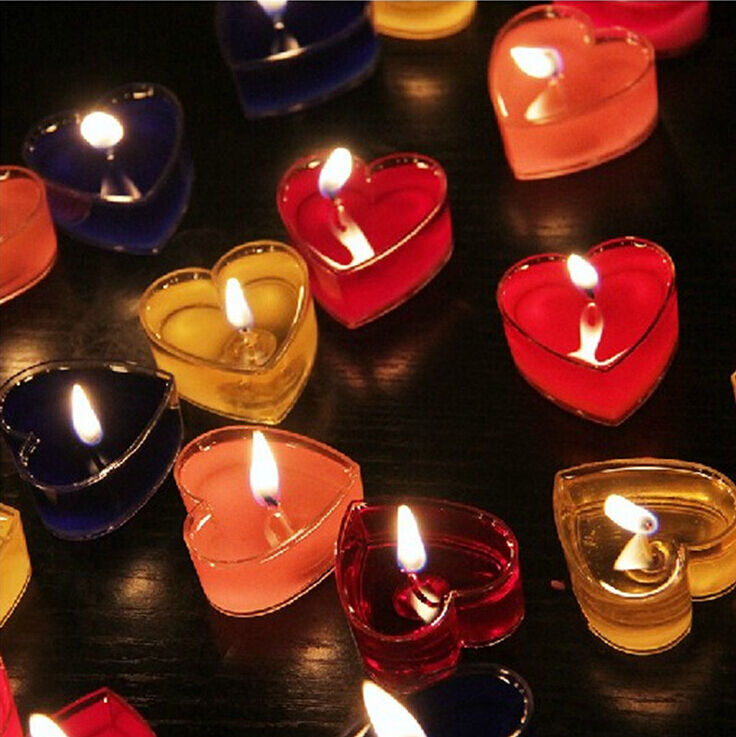 Candles Home Decor: Fragranced Romantic Love Wedding Party Heart Shaped