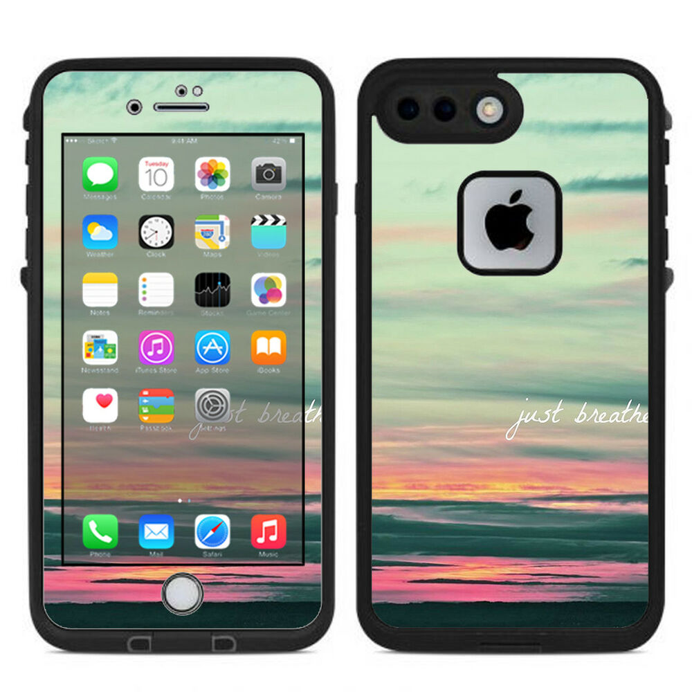 Details about skin decal for lifeproof iphone 7 plus fre case just breathe sunset scene