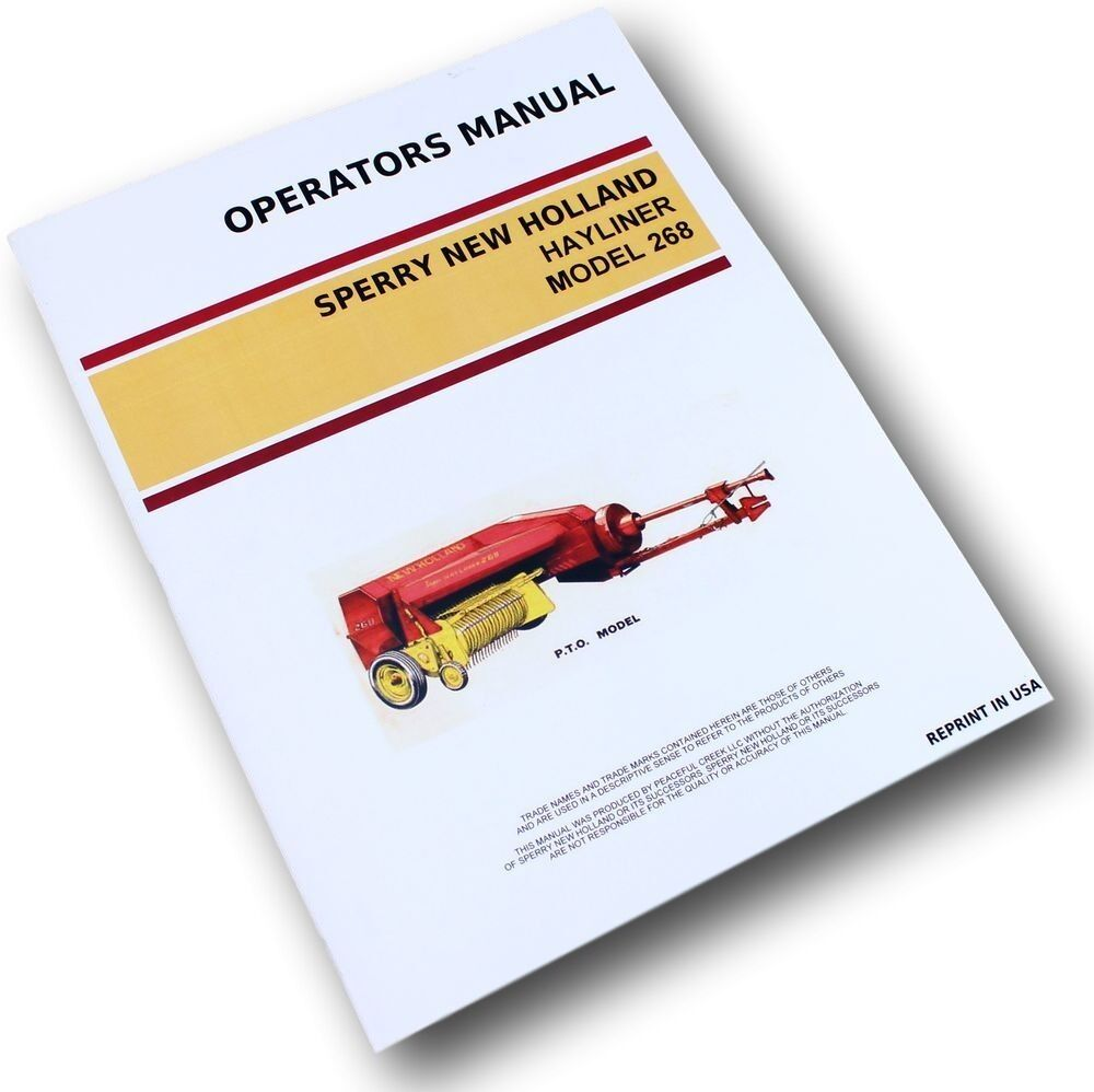 new holland 268 baler service manual