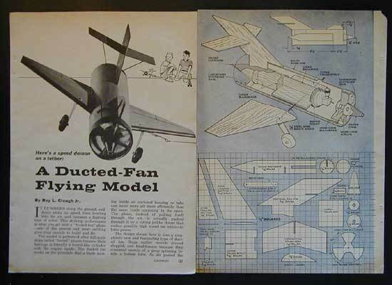 Building A Ducted Fan : Tether ducted fan barrel jet plane how to build plans ebay