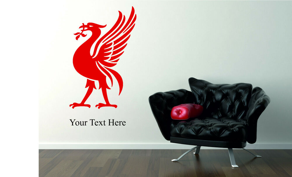 liverpool liverbird wall art logo sticker decal sport personalised