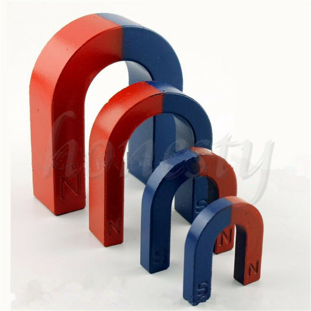 3 size traditional u shaped horseshoe magnet kids toy stocking filler party bags ebay. Black Bedroom Furniture Sets. Home Design Ideas