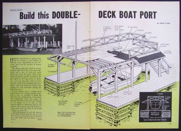 Double Deck Boat House Design PLANS Port Sundeck eBay