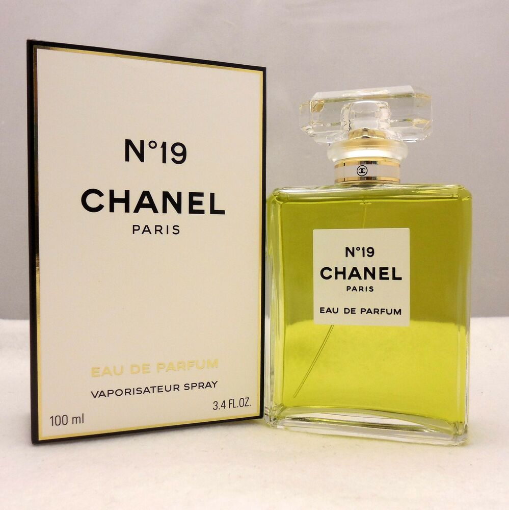 chanel no 19 edp spray 100ml 3 4 oz 3145891195309 ebay. Black Bedroom Furniture Sets. Home Design Ideas