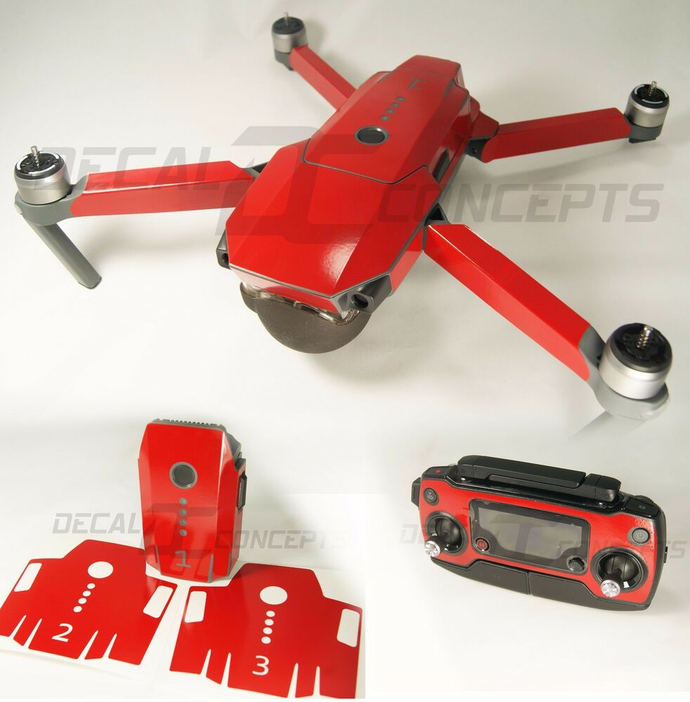 60d588bdcbe Details about DJI Mavic Gloss RED Full Graphic Wrap kit - Decal Skin  Sticker Pro