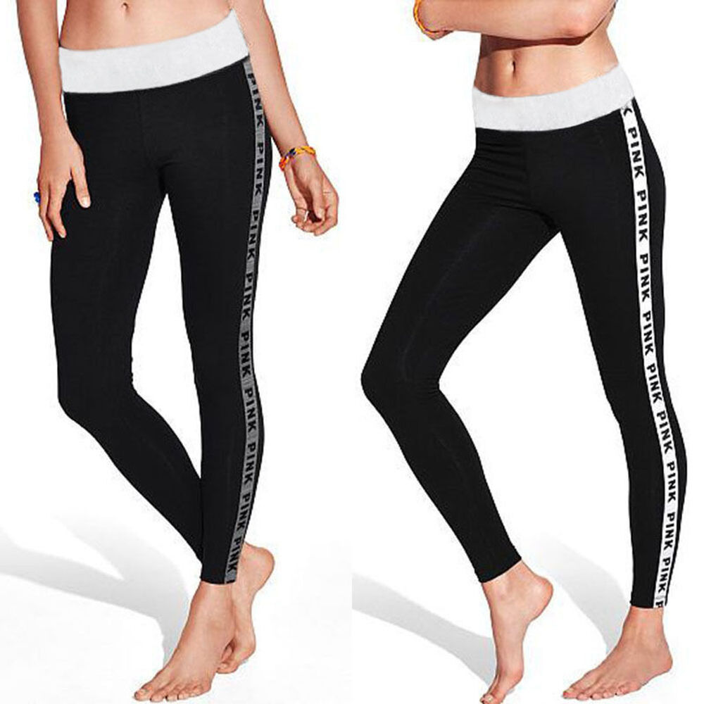 Womens Leggings Yoga Sports Athletic Fitness Stretch: Women Sports Gym Yoga Running Fitness Leggings Stretch