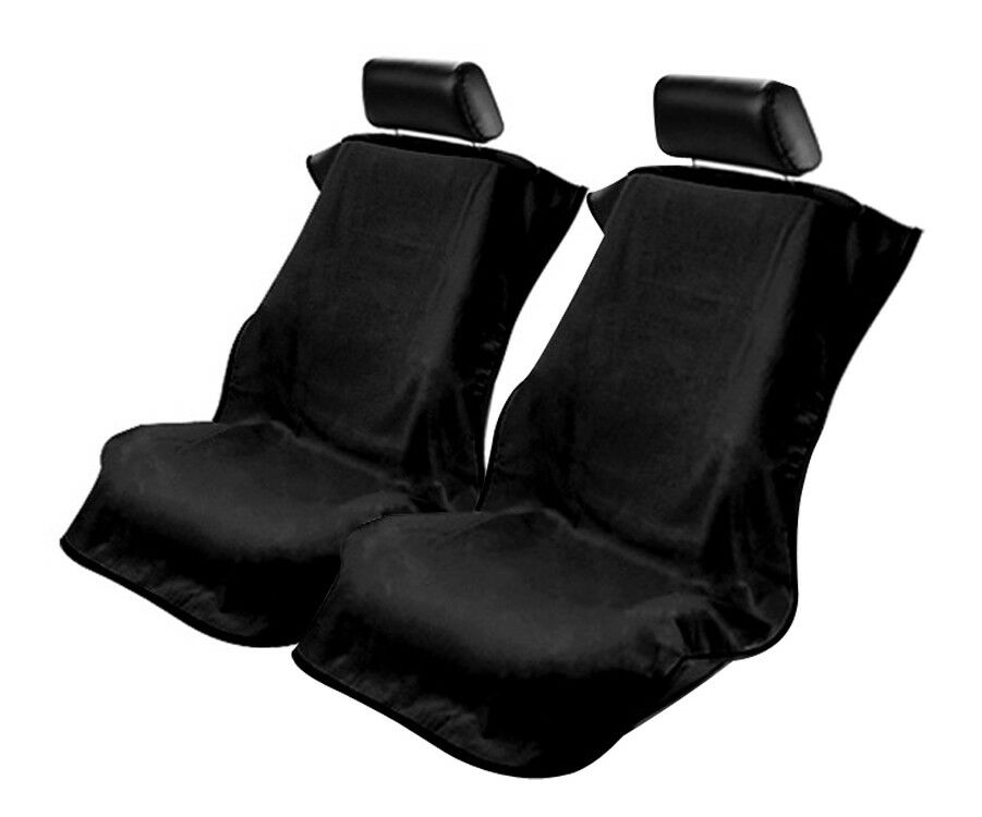 seat armour black towel seat covers without logo pair ebay. Black Bedroom Furniture Sets. Home Design Ideas