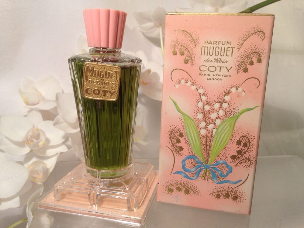 very rare coty parfum muguet des bois lily of the valley perfume ebay. Black Bedroom Furniture Sets. Home Design Ideas