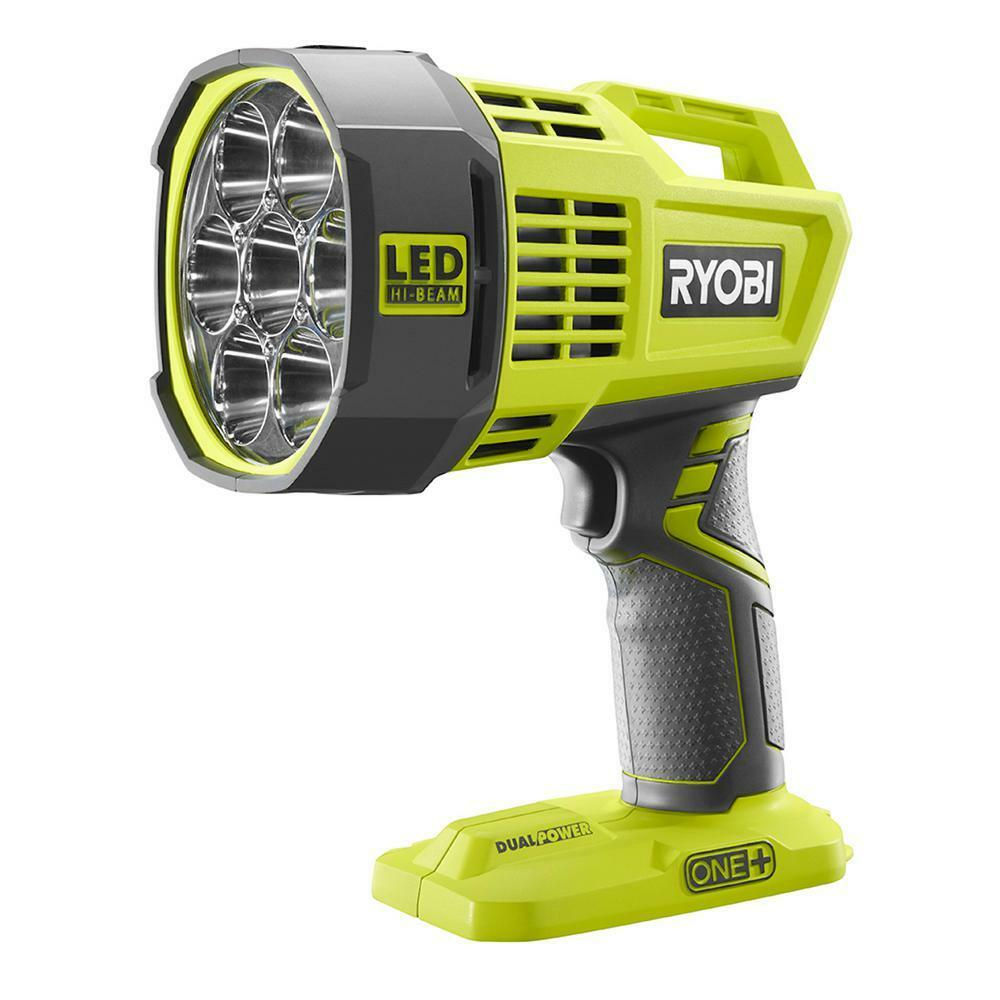 Work Light Total Tools: New Ryobi P717 18V 18-Volt ONE+ Dual Power LED Spotlight