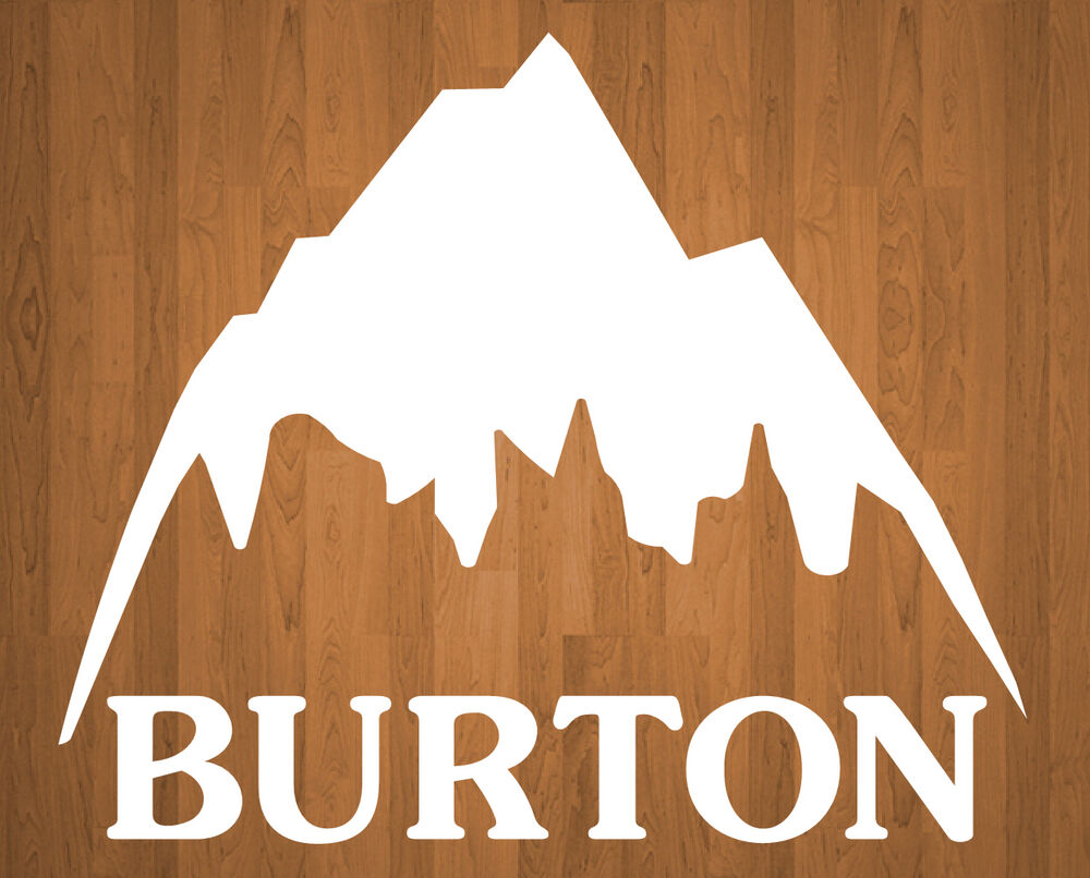 Burton Sticker Mountain Retro Logo All Colors Available ...