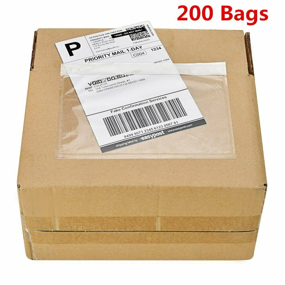 200 7 5 x 5 5 clear adhesive top loading packing list