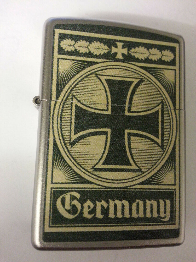 original zippo feuerzeug germany eisernes kreuz deutschland ebay. Black Bedroom Furniture Sets. Home Design Ideas
