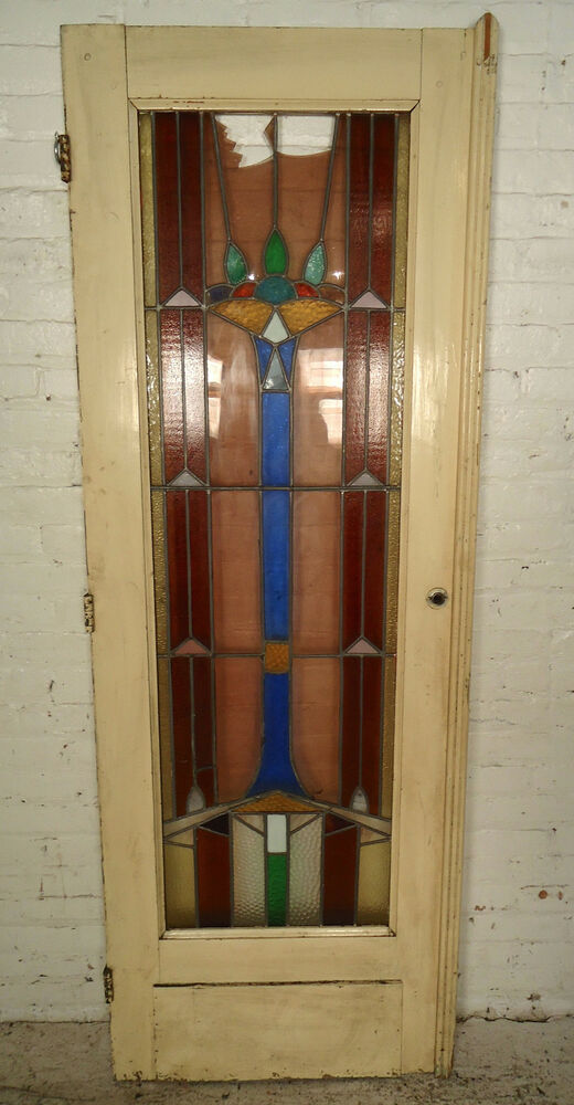 Single Antique American Stained Glass Door 1874 Ns Ebay