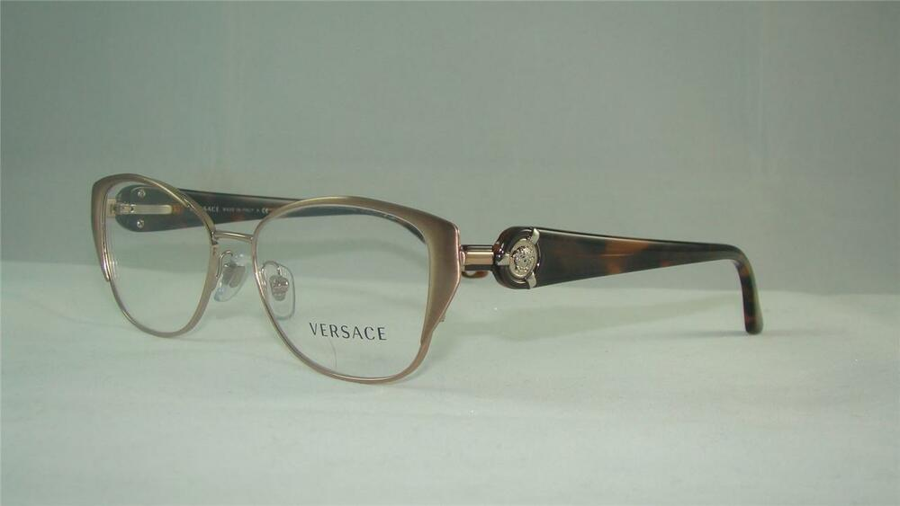 VERSACE 1196 1052 BROWN & TORTOISE GLASSES EYEGLASSES ...