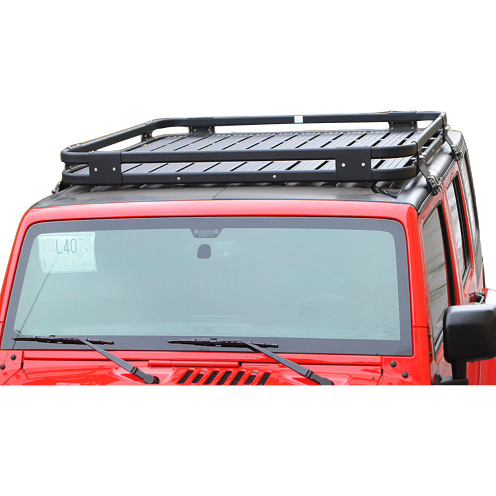 New Roof Mounted Luggage Cargo Storage Rack Jeep Wrangler