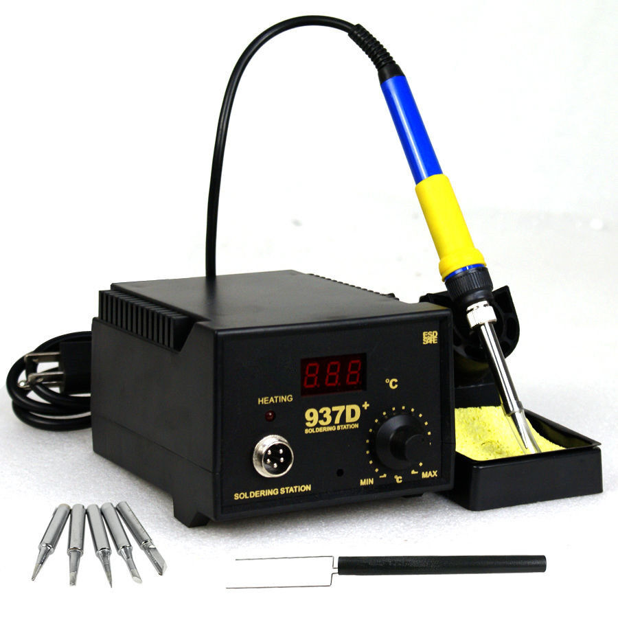 937d soldering station jp heater iron welding solder smd tool 5 tips rework esd ebay. Black Bedroom Furniture Sets. Home Design Ideas