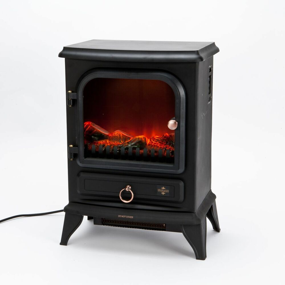 Flame Effect Stove Electric Heater Fire Log Burning
