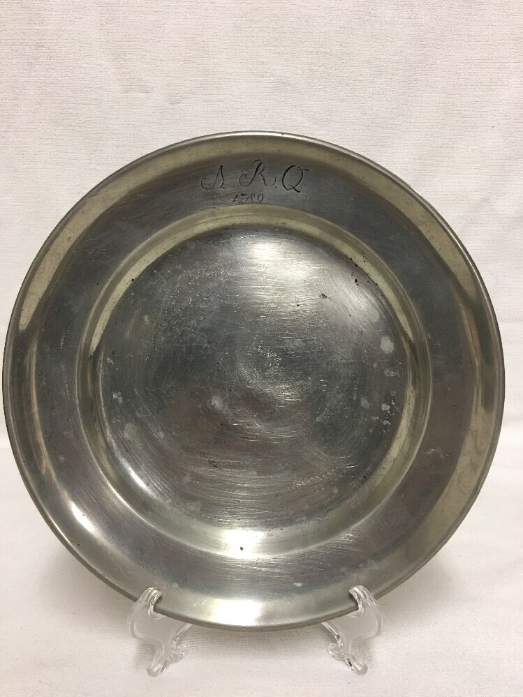 Antique Pewter Plates : S antique pewter plate lh ebay