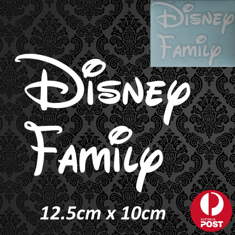 Details about disney family mickey minnie mouse decal sticker white vinyl car vehicle