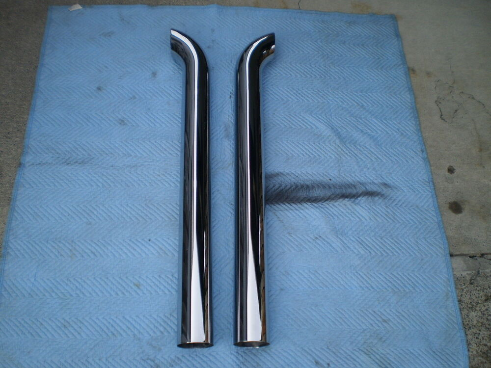 Chrome Stacks For Semi Trucks : Diesel semi truck a new pair of quot curved chrome exhaust