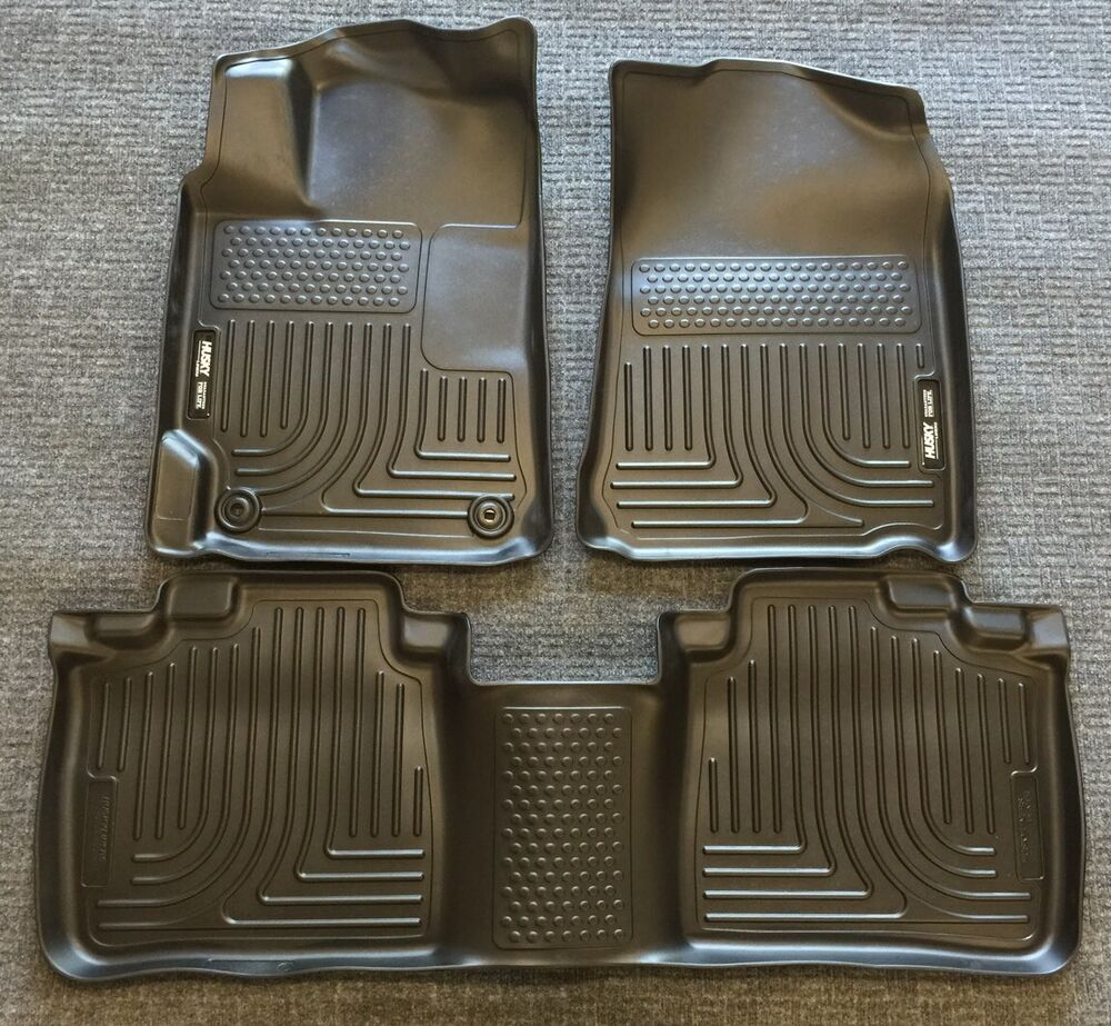 Weather Mats For Your Car >> 2013-2015 Chevrolet Malibu Husky WeatherBeater All Weather Floor Mats Black set | eBay