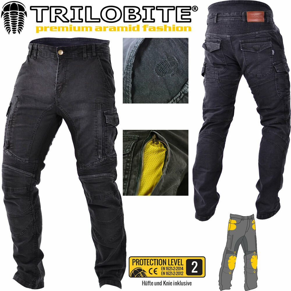 trilobite motorrad jeans acid scrambler hose schwarz inklusive protektoren 42 32 8595657802029. Black Bedroom Furniture Sets. Home Design Ideas