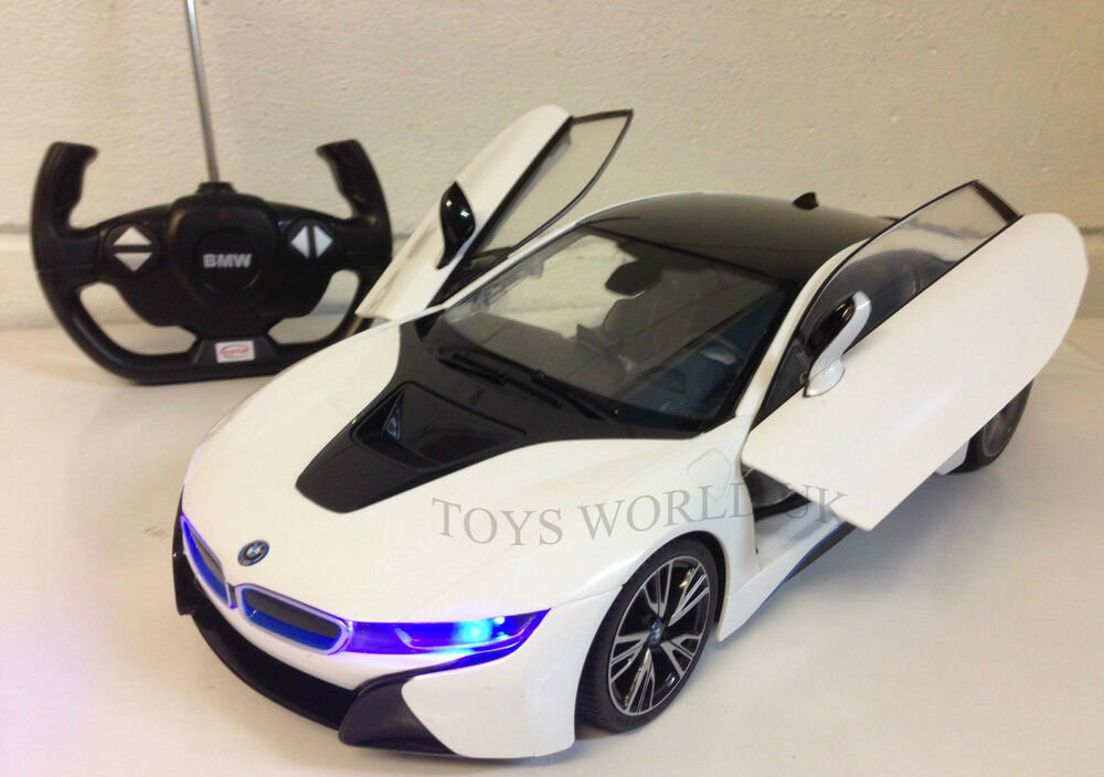 Bmw I8 Remote Control Car Led Lights 1 14 Remote Control Opening