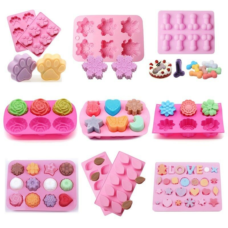 DIY Silicone Cake Decorating Mould Candy Cookies Soap ...