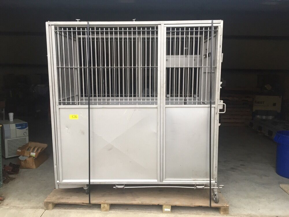 Allentown Caging Stainless Steel Ss Lab Vet Animal Cage Crate Large Dog Animal Ebay