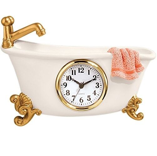 Small Clock For Bathroom Clawfoot Tub Bathtub Wall Bath Decorative Vintage  Retro. Bathroom Clock   eBay