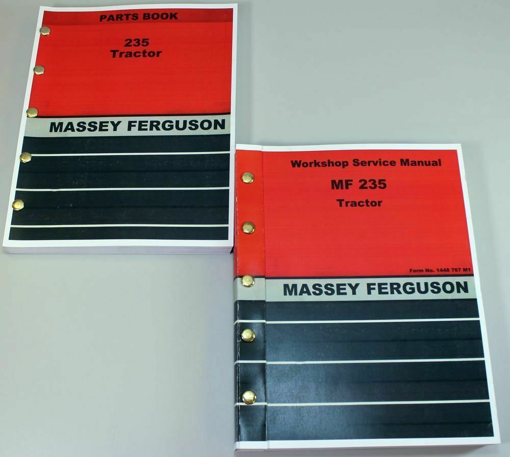 SET MASSEY FERGUSON 235 TRACTOR PARTS SERVICE REPAIR SHOP MANUAL WORKSHOP  MF235 | eBay