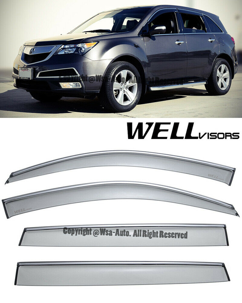 For 07-13 Acura MDX WellVisors Side Window Visors Premium