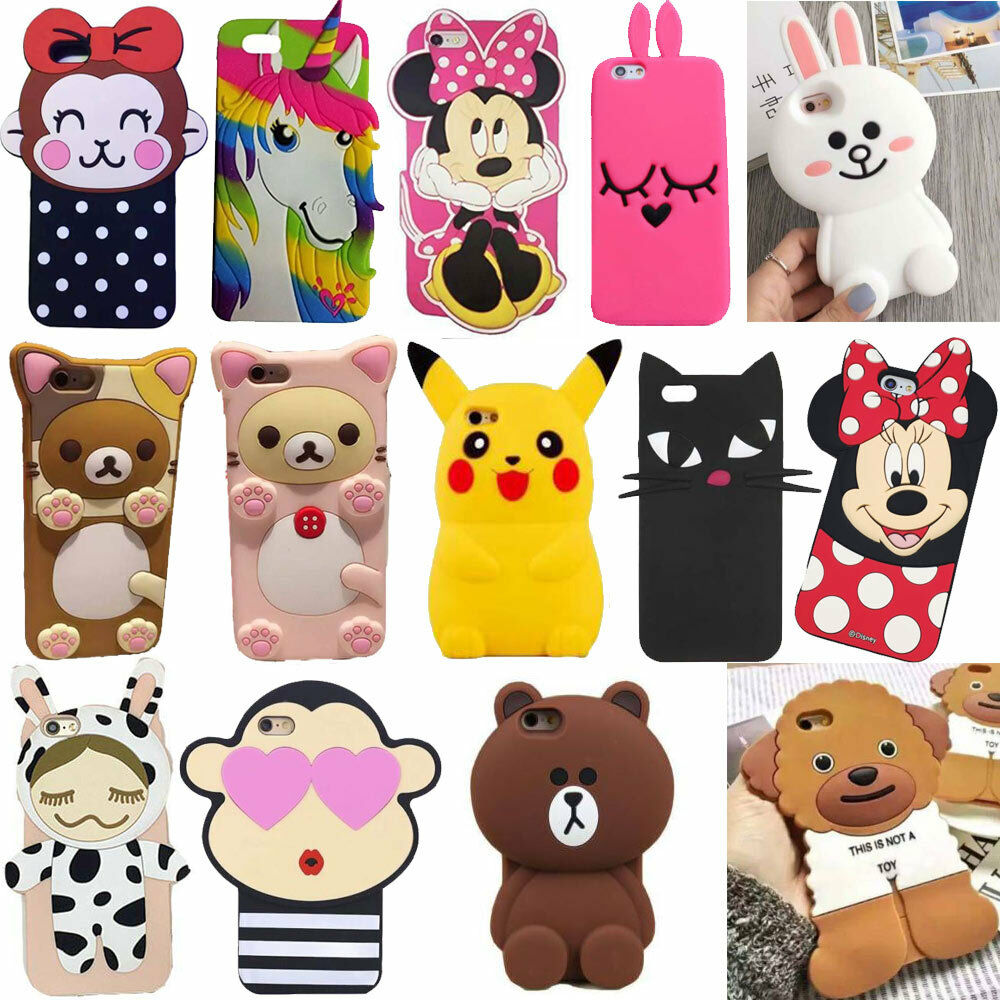 3d iphone 5c cases 3d animal silicone back cover for iphone 13345