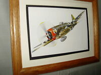Republic P 47 Thunderbolt WWII Aircraft Model Airplane Box Top Art Color artist