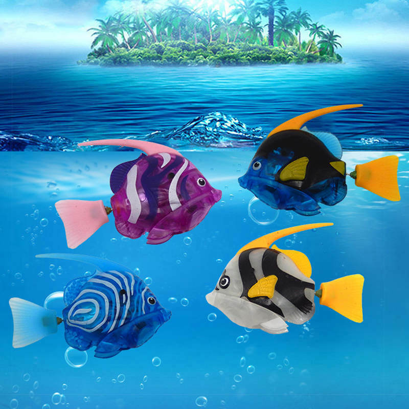 Fashion swimming activated battery powered electronic robo for Robo fish tank