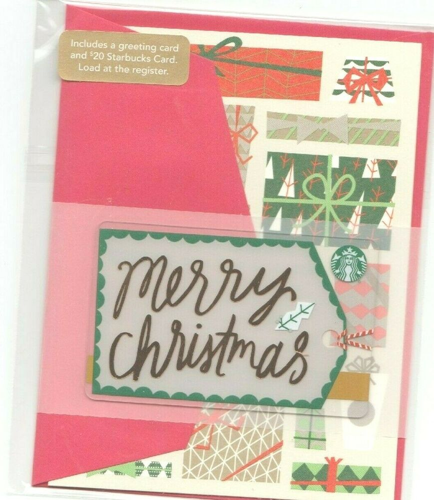 STARBUCKS CHRISTMAS GIFT CARD WITH ENVELOPE LIMITED ED ...