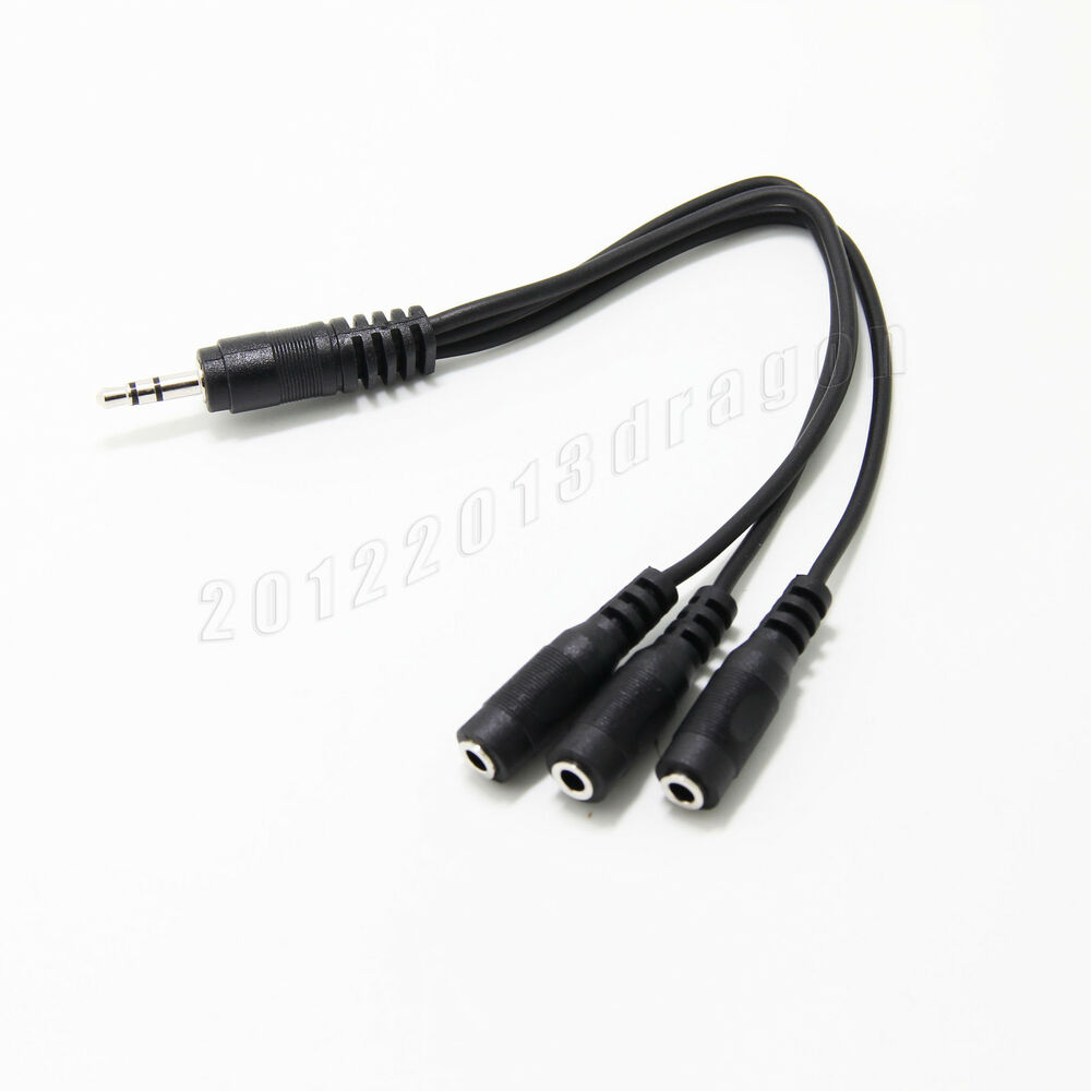 3 way headphone splitter cable 1 male to 3 female ebay. Black Bedroom Furniture Sets. Home Design Ideas
