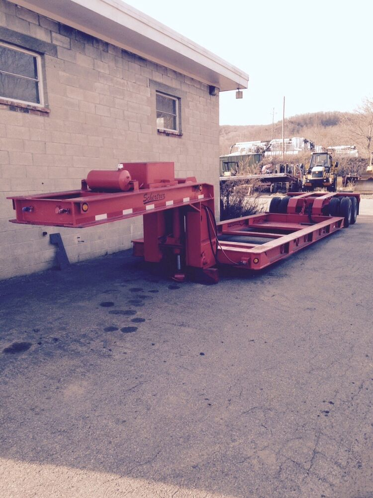 Lowboy Trailer Schertzer Perimeter Bed Talbert Trailking