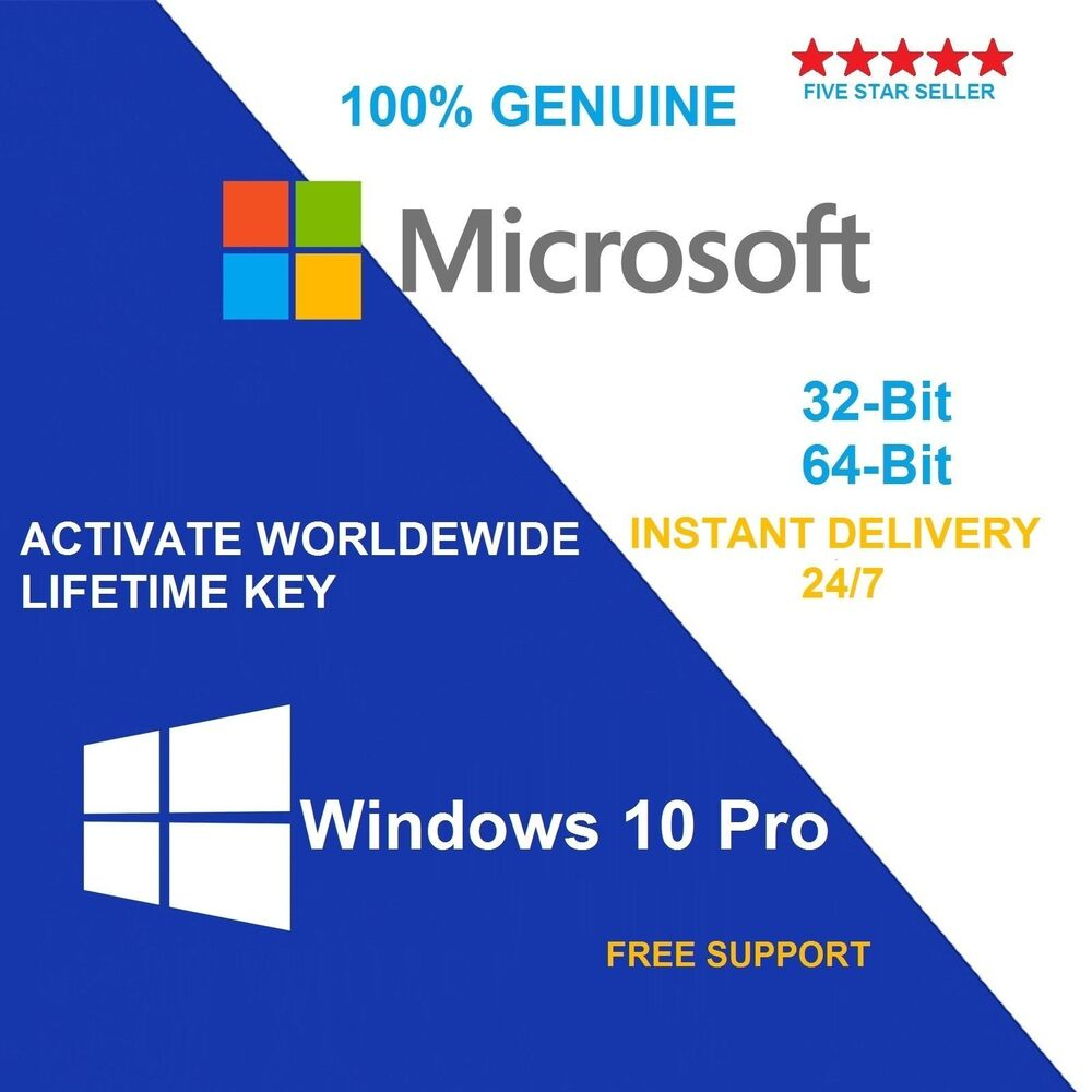 genuine windows 10 pro 32 64bit oem original license key scrap pc ebay. Black Bedroom Furniture Sets. Home Design Ideas