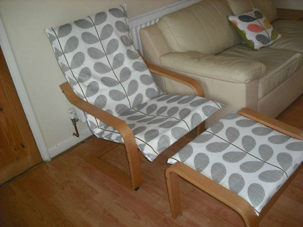 Ikea Kitchen Island Tutorial ~ Homemade ikea ALME Poang chair cover using orla kiely bedding VARIOUS